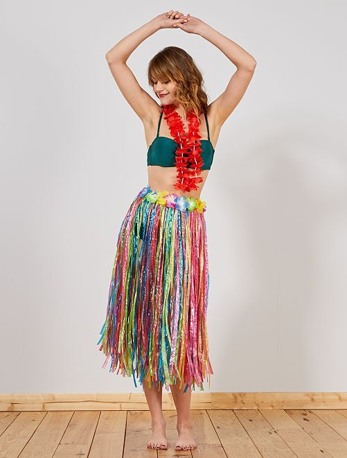 Jupe hawaïenne                              multicolore Femme