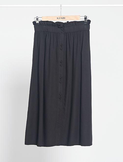 Jupe longue boutonnée                                                                 noir