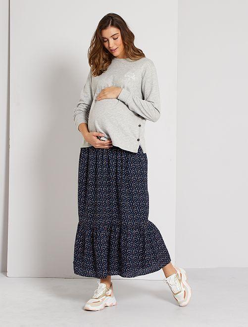 Jupe longue de maternité                                                     bleu