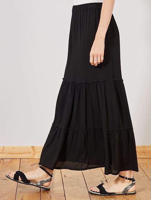 Jupe longue en crêpe                     noir
