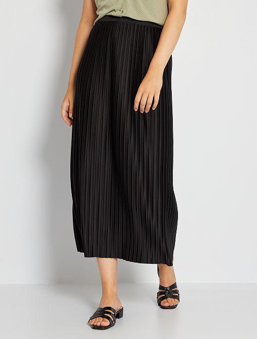 Jupe longue plissée 'JDY'                             noir
