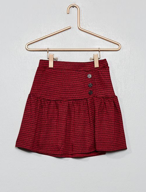 Jupe maille jacquard                                         rouge Fille