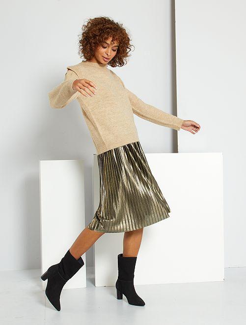 Jupe plissée dorée 'JDY'                             noir/doré