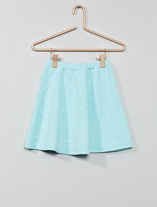 Jupe pois en relief                                                     turquoise