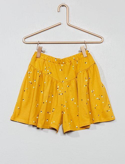 Jupe-short imprimée                     jaune étoiles