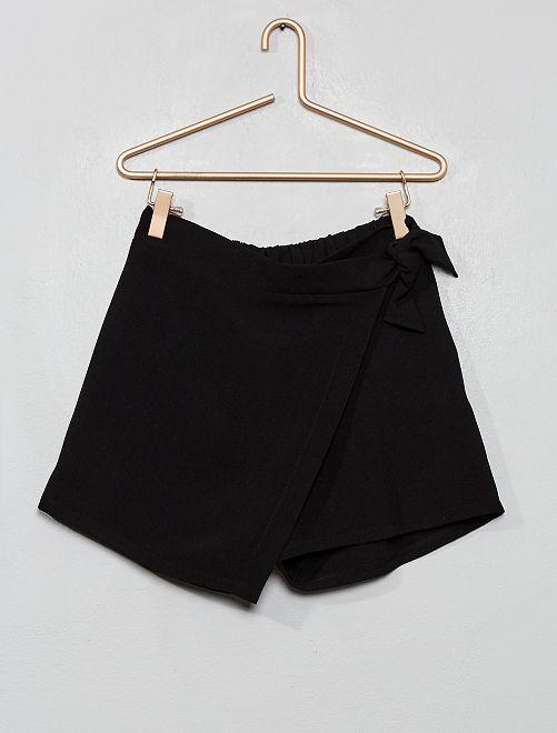 Jupe short portefeuille                             noir