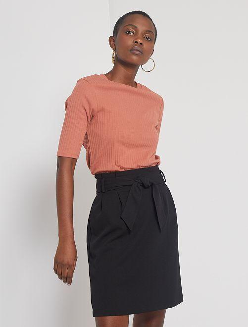 Jupe taille haute                                         noir