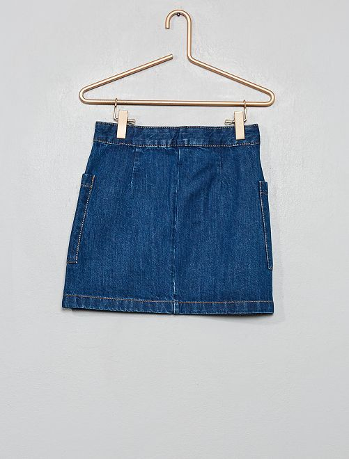 Jupe trapèze en jean                                         brut