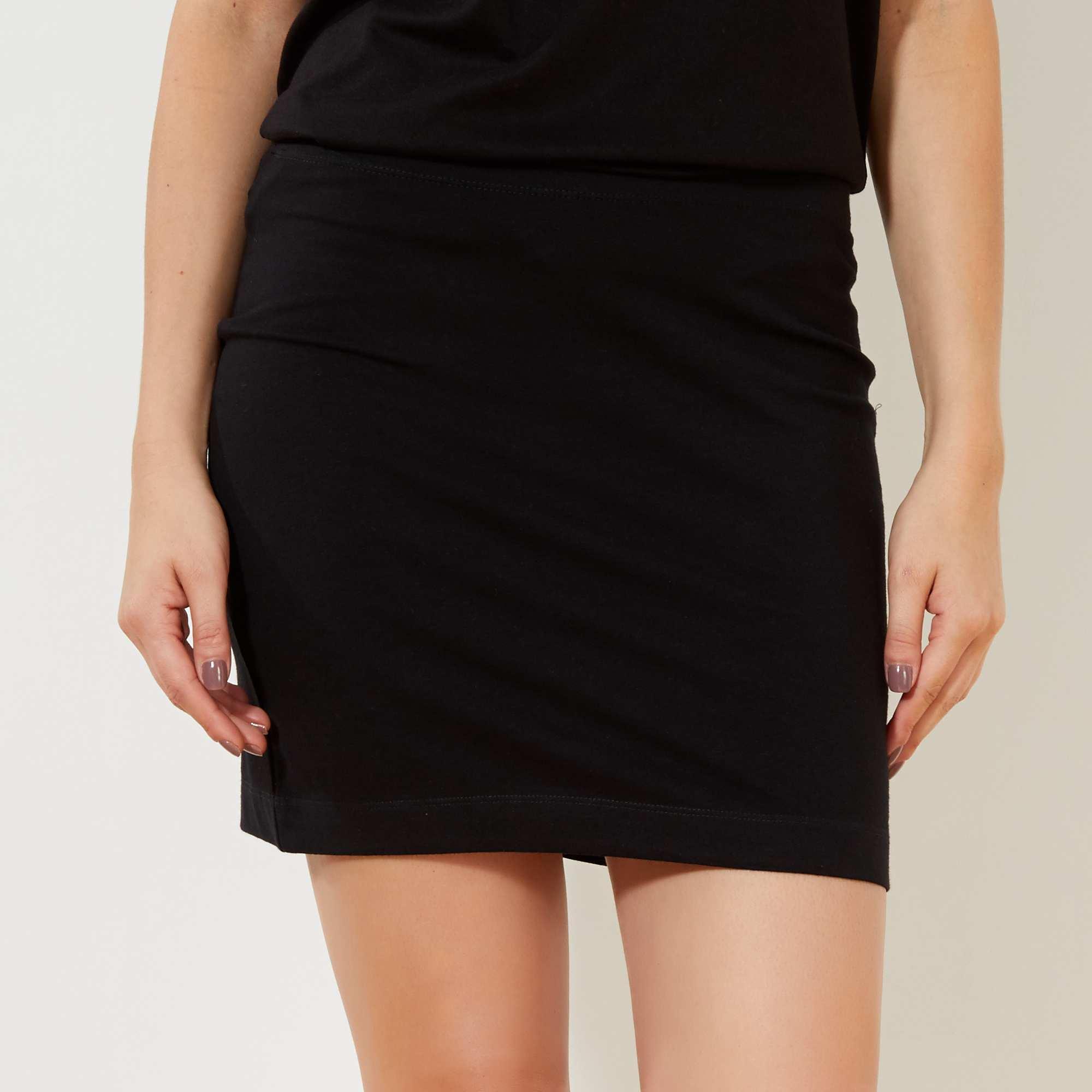 Couleur : noir, gris foncé chiné, ,, - Taille : XL, L, M,S,XSUne ligne près du corps avec la jupe tube stretch qui vous dessine une jolie silhouette