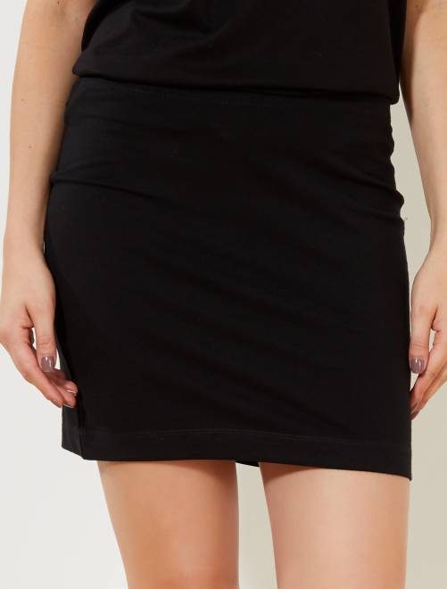 Jupe tube stretch éco-conçue                                         noir