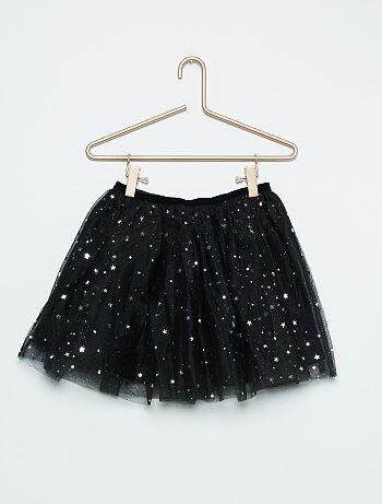 jupe tutu en tulle avec motifs brillants fille noir kiabi 6 30. Black Bedroom Furniture Sets. Home Design Ideas
