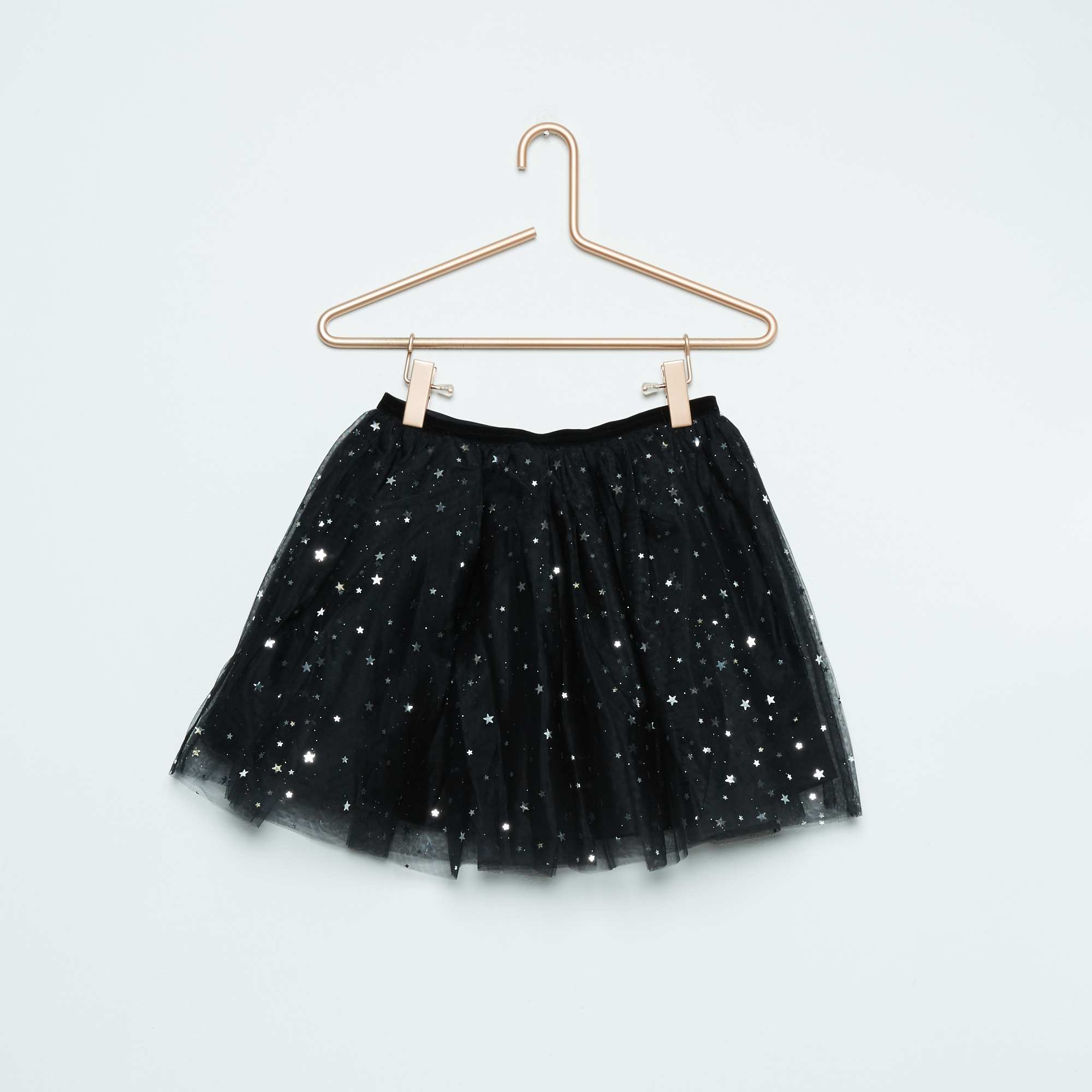 jupe tutu en tulle avec motifs brillants fille noir kiabi 4 50. Black Bedroom Furniture Sets. Home Design Ideas