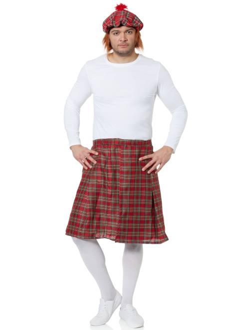 Kilt écossais                              rouge Homme