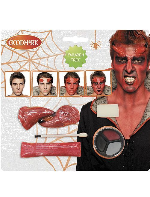 Kit de maquillage diable                             rouge