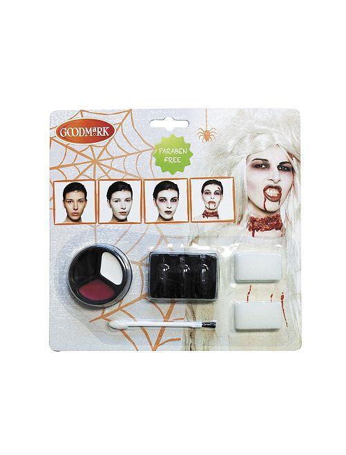 Kit de maquillage zombie                             blanc/rouge
