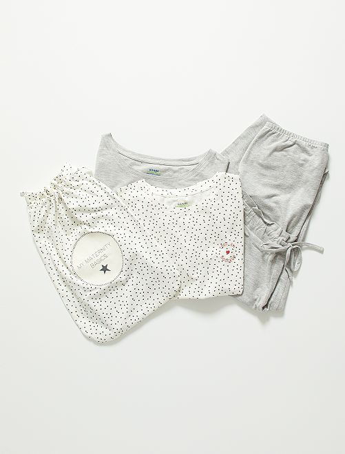 Kit maternité éco-conçu                                                                 écru/gris