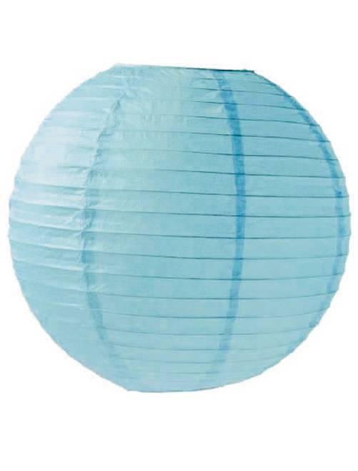 Lanterne chinoise en papier 15cm                                                                                                     bleu Linge de lit