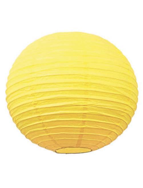 Lanterne chinoise en papier 15cm                                                                             jaune