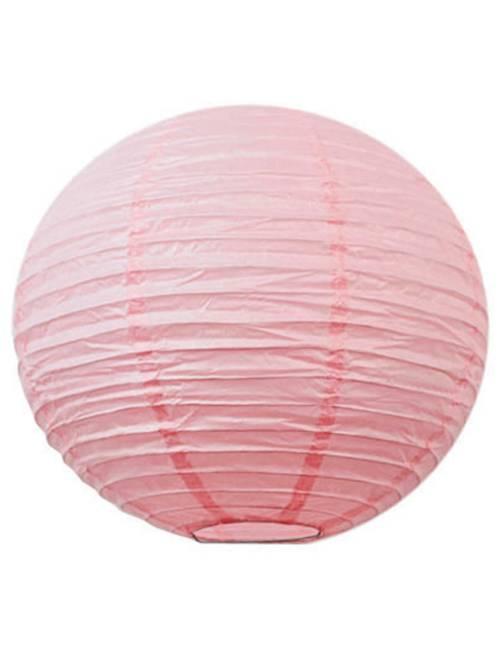 Lanterne chinoise en papier 15cm                                                                                                     rose Linge de lit