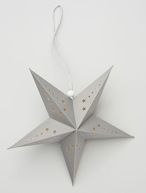 Lanterne étoile 30 cm                                                     gris