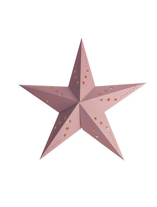 Lanterne étoile 30 cm                                                     rose clair