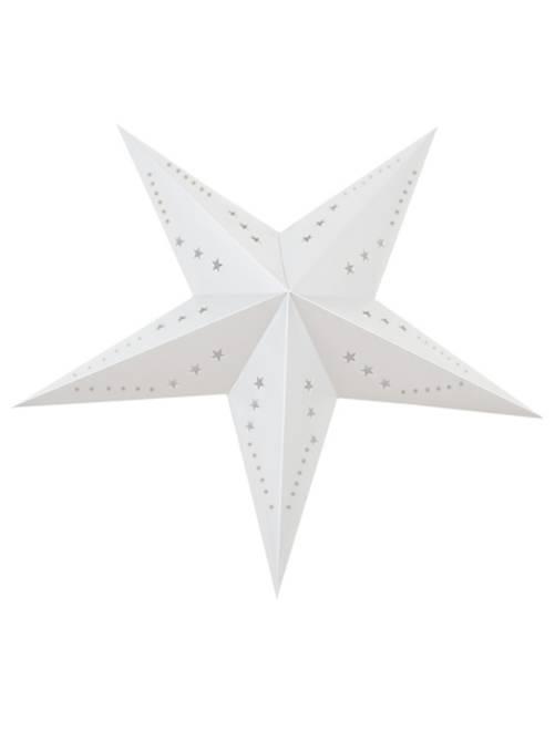 Lanterne étoile 60cm                                                                             blanc