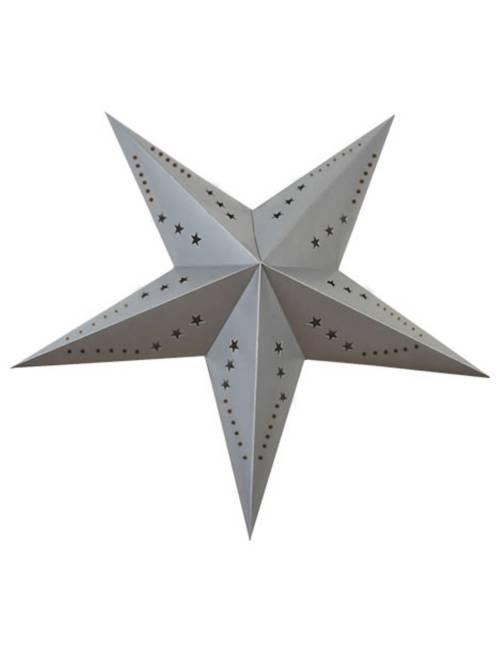 Lanterne étoile 60cm                                                                             gris