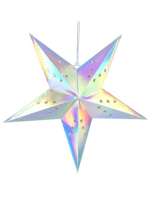 Lanterne étoile 60cm                                                                             multicolore