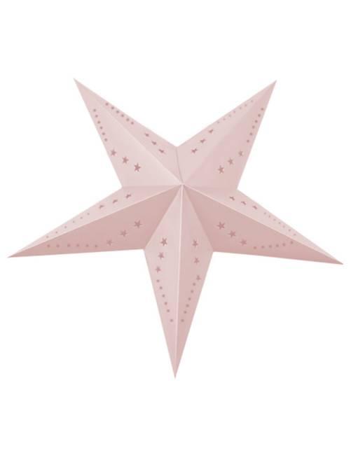 Lanterne étoile 60cm                                                         rose clair
