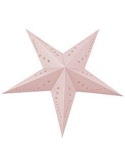 Déco textile - Lanterne étoile 60cm