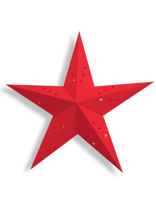 Lanterne étoile 60cm                                                                             rouge