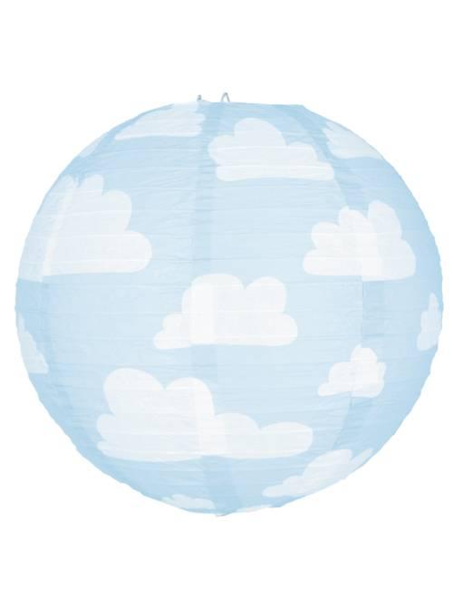 Lanterne nuages en papier                     bleu/blanc Décoration, animation