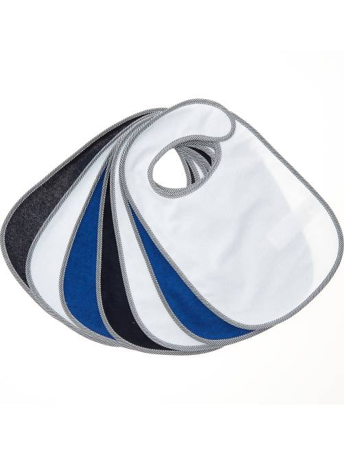 Le lot de 7 bavoirs éponge doublés                                         bleu marine Bébé garçon