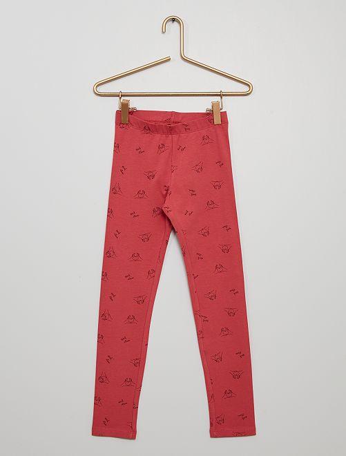 Legging avec imprimé                                                                                                                             rose