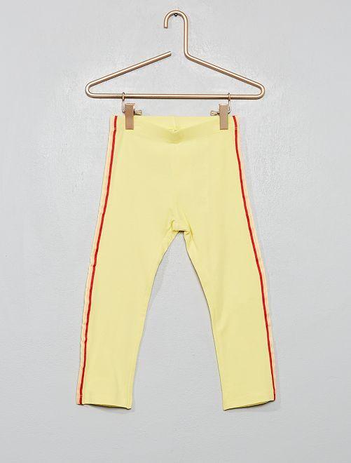 Legging bandes latérales                             jaune