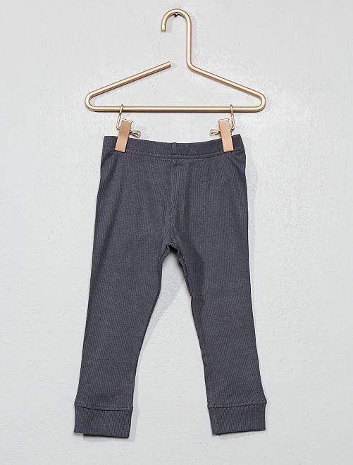 Legging côtelé 'éco-conception'                                                                 gris