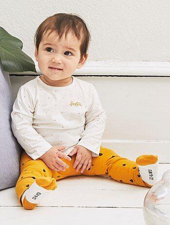 Fille 0-36 mois - Legging coton imprimé gouttes - Kiabi