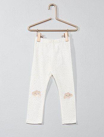 Legging coton imprimé pois - Kiabi