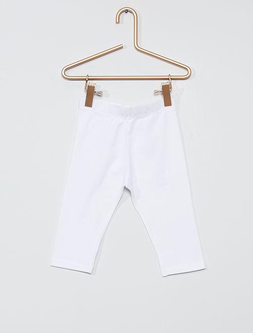 Legging court                                                     blanc