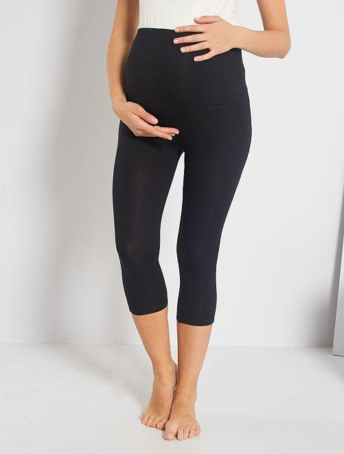 Legging court de maternité                                         noir