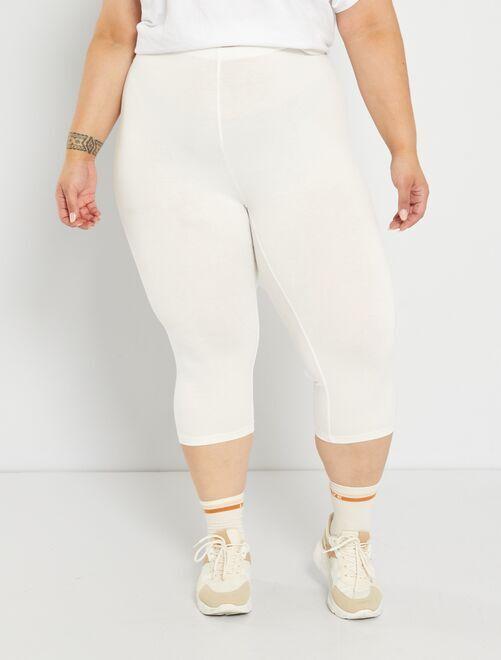 Legging court éco-conçu                                                     blanc