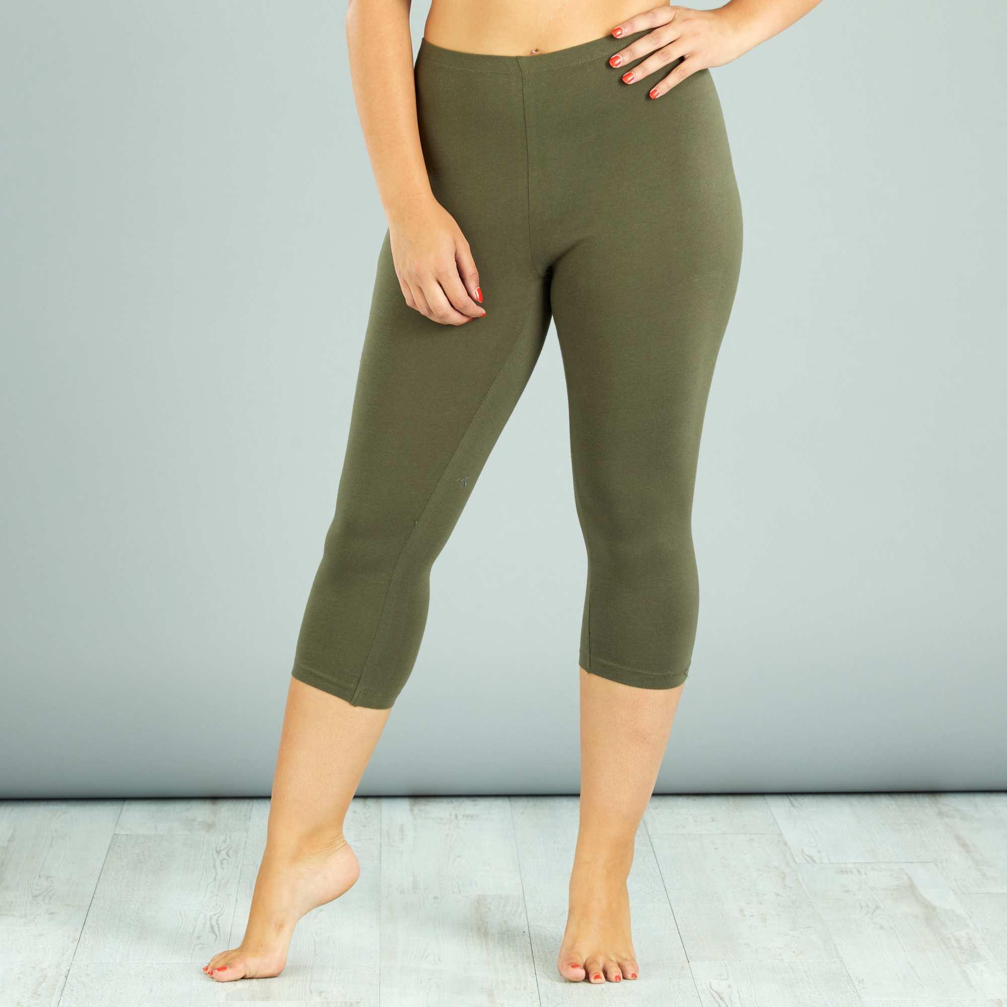 legging court grande taille femme kiabi 8 00. Black Bedroom Furniture Sets. Home Design Ideas
