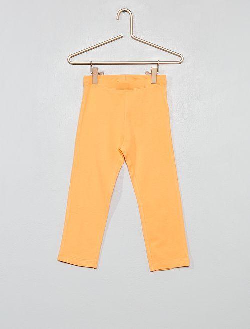 Legging court stretch                                                                                                                 orange pale