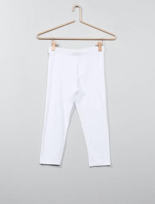 Legging court uni                                         blanc