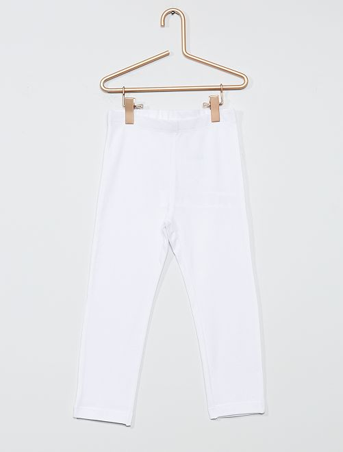 Legging court uni                                                                                                                 blanc