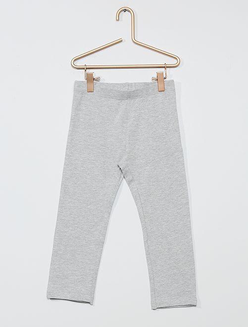 Legging court uni                                                                                                                 gris