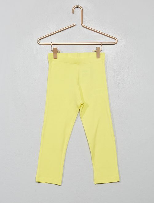 Legging court uni                                                                                                                 jaune