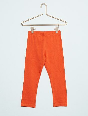 legging court uni orange fille kiabi. Black Bedroom Furniture Sets. Home Design Ideas