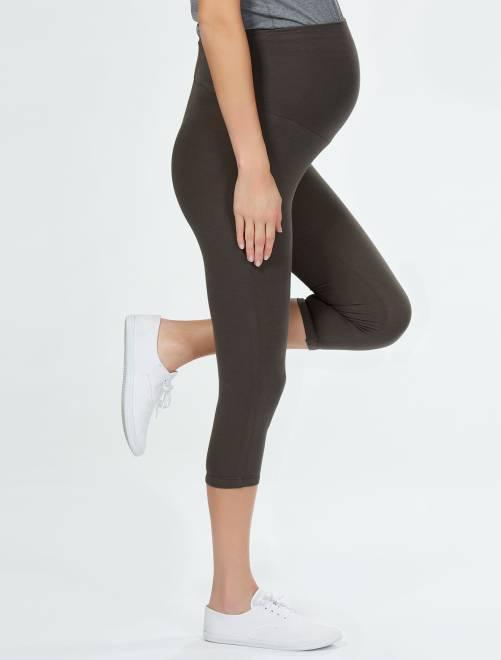Legging de maternité maille extensible                                             kaki