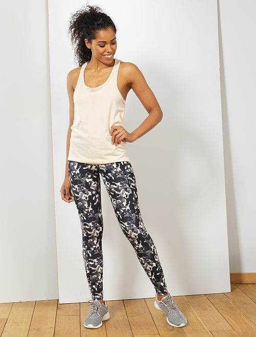 Legging de sport avec poches latérales                                         camo